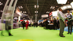 NRF Trade Show Main Floor Timelapse Stock Footage
