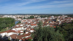 HD: Old city Tomar with river Nabao, Portugal - stock footage