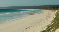 Looking Along Hamelin Bay Beach in Australia's South West Stock Footage