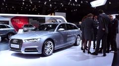 Audi A6 Avant luxury estate car Stock Footage