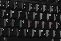 help keyboard obliquely Stock Photos