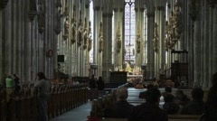 Cologne Cathedral in Koeln Stock Footage