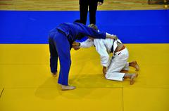 Judo competitions - stock photo