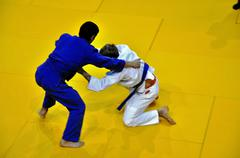Judo competitions Stock Photos