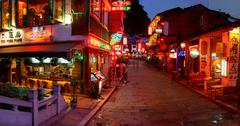 YANGSHUO TOWN , GUANGXI, CHINA - MARCH 30: Attractions in South China, popula - stock photo