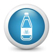 Vector blue glossy icon. Stock Illustration