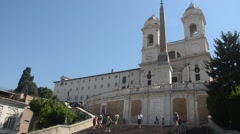 The Spanish Steps (Scalinata della Trinità dei Monti) Stock Footage
