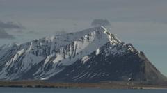 Svalbard Mountains on Spitzbergen Stock Footage