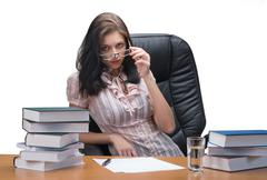 Attractive business lady - stock photo