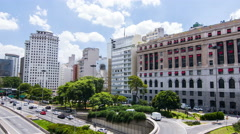 Sao Paulo and your beautiful center of business and culture Stock Footage