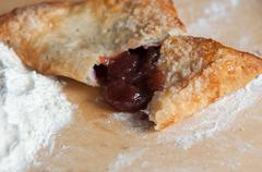 Cherry Filled Crescent Rolls Stock Photos