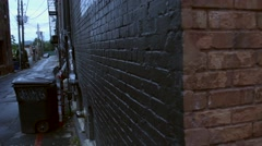 Panning Shot of Downtown Alleyway Stock Footage