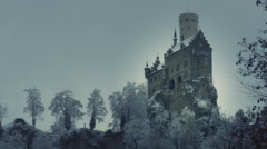 Castle Lichtenstein in Germany Stock Footage