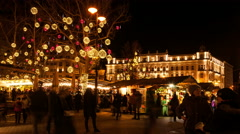 Budapest Christmas Fair 01 Stock Footage