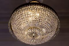 Stock Photo of Old glass chandelier