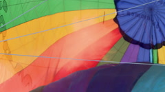 View of fire heats balloon, close-up Stock Footage