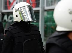 Special unit policeman - stock photo