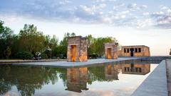 The Temple of Debod in Madrid Stock Photos