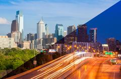 Philadelphia skyline day to night montage - Pennsylvania - USA - United State Kuvituskuvat