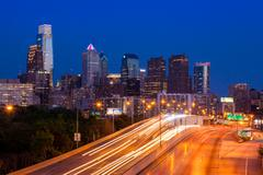 Philadelphia skyline by night - Pennsylvania - USA Kuvituskuvat