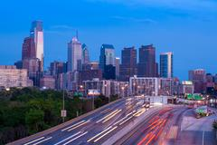Philadelphia skyline by night - Pennsylvania - USA - United States of America Kuvituskuvat