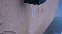 Water Dripping Out of Gutter Stock Footage