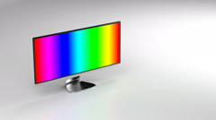 Ultra wide display Stock Footage