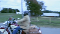 Tracking Shot of Motorcycle Speeding By Stock Footage
