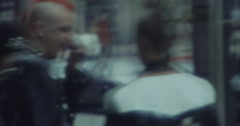 Punks in England UK 70s 16mm Stock Footage