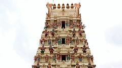 Arulmigu Rajamariamman Devasthanam temple Stock Footage