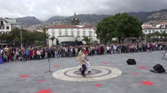 4k Funny music band public event celebration in Funchal Madeira Stock Footage