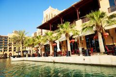 DUBAI, UAE - SEPTEMBER 9: View of the Souk Madinat Jumeirah. Madinat Jumeirah Stock Photos