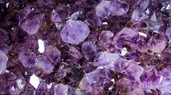 Amethyst raw mineral gemstone macro Stock Photos