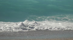 Sparkling waves flowing on the beach. Summer time, vacation view.  Stock Footage