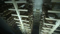 Cheese cellar Stock Footage