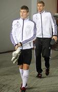 Toni Kroos and Peer Mertesacker of Germany - stock photo