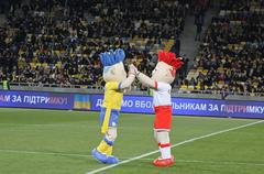 Slavek and Slavko, the UEFA Euro 2012 mascots - stock photo