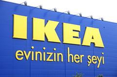 Logo of IKEA store in Istanbul Stock Photos