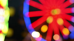 Rack focus of Ferris Wheel at Carnival Stock Footage