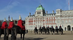 Changing the Queens Lifeguard Horseguards London - stock footage
