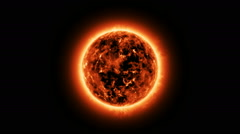 The sun with atmosphere solar - stock footage