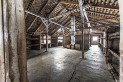 Inside of a barracks of the Nazi concentration camp Auschwitz Birkenau Kuvituskuvat
