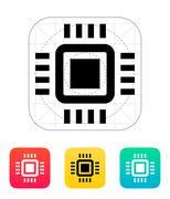 Mini CPU icon. Vector illustration - stock illustration