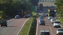 Traffic on the A14 dual carriageway / highway road Stock Footage