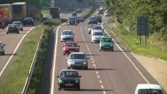 traffic on the A14 dual carriageway / highway road - stock footage