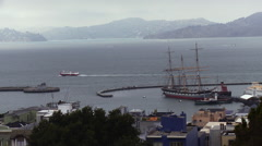 San Francisco Bay Clipper Ship Stock Footage