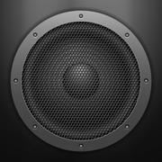 sound speaker background - stock illustration