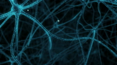 Synapses in neuronal tissue human Stock Footage