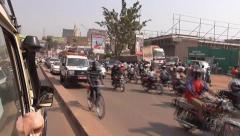 Driving through Entebbe - Uganda, East Africa - stock footage