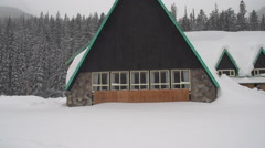 abandoned hotel snow covered, Rogers Pass, #1 - stock footage